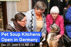 Pet Soup Kitchens Open in Germany