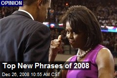 Top New Phrases of 2008