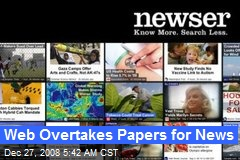 Web Overtakes Papers for News