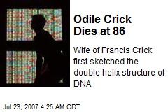 Odile Crick Dies at 86