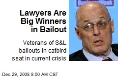 Lawyers Are Big Winners in Bailout