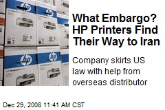 What Embargo? HP Printers Find Their Way to Iran
