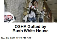 OSHA Gutted by Bush White House
