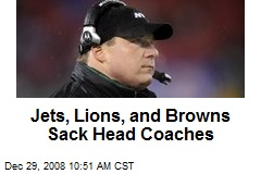Jets, Lions, and Browns Sack Head Coaches