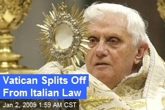 Vatican Splits Off From Italian Law