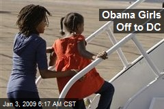 Obama Girls Off to DC
