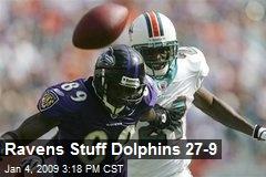 Ravens Stuff Dolphins 27-9