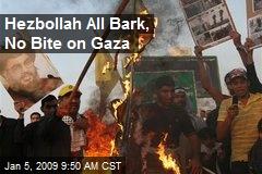 Hezbollah All Bark, No Bite on Gaza