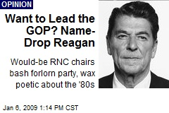 Want to Lead the GOP? Name- Drop Reagan