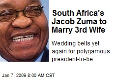 South Africa's Jacob Zuma to Marry 3rd Wife