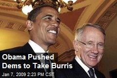 Obama Pushed Dems to Take Burris