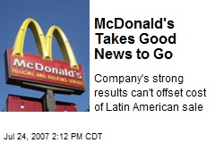 McDonald's Takes Good News to Go