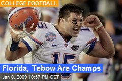 Florida, Tebow Are Champs