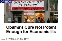 Obama's Cure Not Potent Enough for Economic Ills