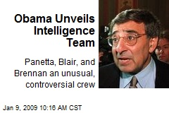 Obama Unveils Intelligence Team
