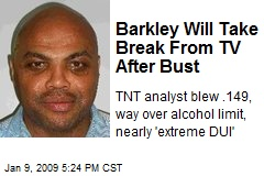 Barkley Will Take Break From TV After Bust