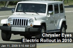 Chrysler Eyes Electric Rollout in 2010