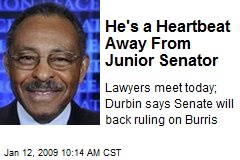 He's a Heartbeat Away From Junior Senator