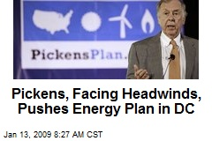 Pickens, Facing Headwinds, Pushes Energy Plan in DC