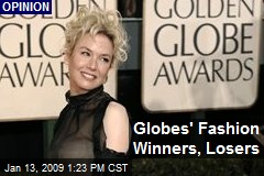 Globes' Fashion Winners, Losers