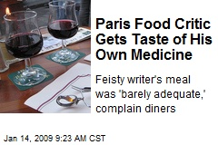 Paris Food Critic Gets Taste of His Own Medicine