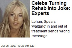 Celebs Turning Rehab Into Joke: Experts