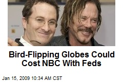 Bird-Flipping Globes Could Cost NBC With Feds