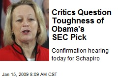 Critics Question Toughness of Obama's SEC Pick