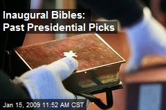 Inaugural Bibles: Past Presidential Picks