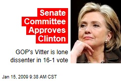 Senate Committee Approves Clinton