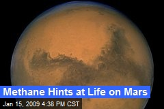 Methane Hints at Life on Mars