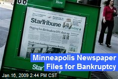 Minneapolis Newspaper Files for Bankruptcy