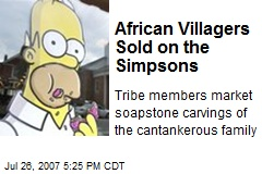 African Villagers Sold on the Simpsons