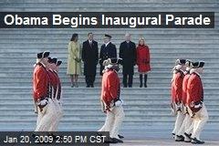Obama Begins Inaugural Parade