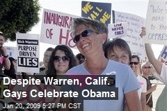 Despite Warren, Calif. Gays Celebrate Obama