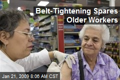 Belt-Tightening Spares Older Workers