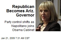 Republican Becomes Ariz. Governor