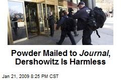 Powder Mailed to Journal , Dershowitz Is Harmless