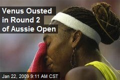 Venus Ousted in Round 2 of Aussie Open