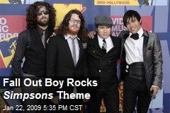 Fall Out Boy Rocks Simpsons Theme