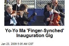 Yo-Yo Ma 'Finger-Synched' Inauguration Gig