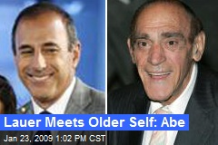 Lauer Meets Older Self: Abe