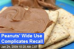 Peanuts' Wide Use Complicates Recall