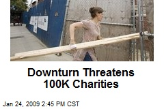 Downturn Threatens 100K Charities