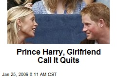 Prince Harry, Girlfriend Call It Quits