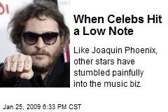 When Celebs Hit a Low Note
