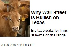Why Wall Street Is Bullish on Texas