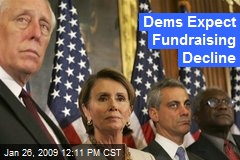 Dems Expect Fundraising Decline