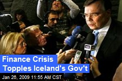 Finance Crisis Topples Iceland's Gov't