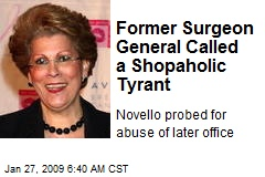 Former Surgeon General Called a Shopaholic Tyrant